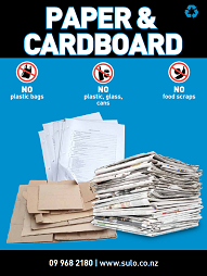 Paper and Carboard Bin Signage